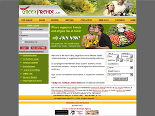 Extra Large Thumbnail of GreenFriends.com Website