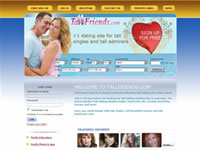 Large Thumbnail of TallFriends.com Website