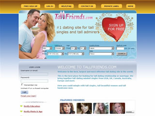 Extra Large Thumbnail of TallFriends.com Website